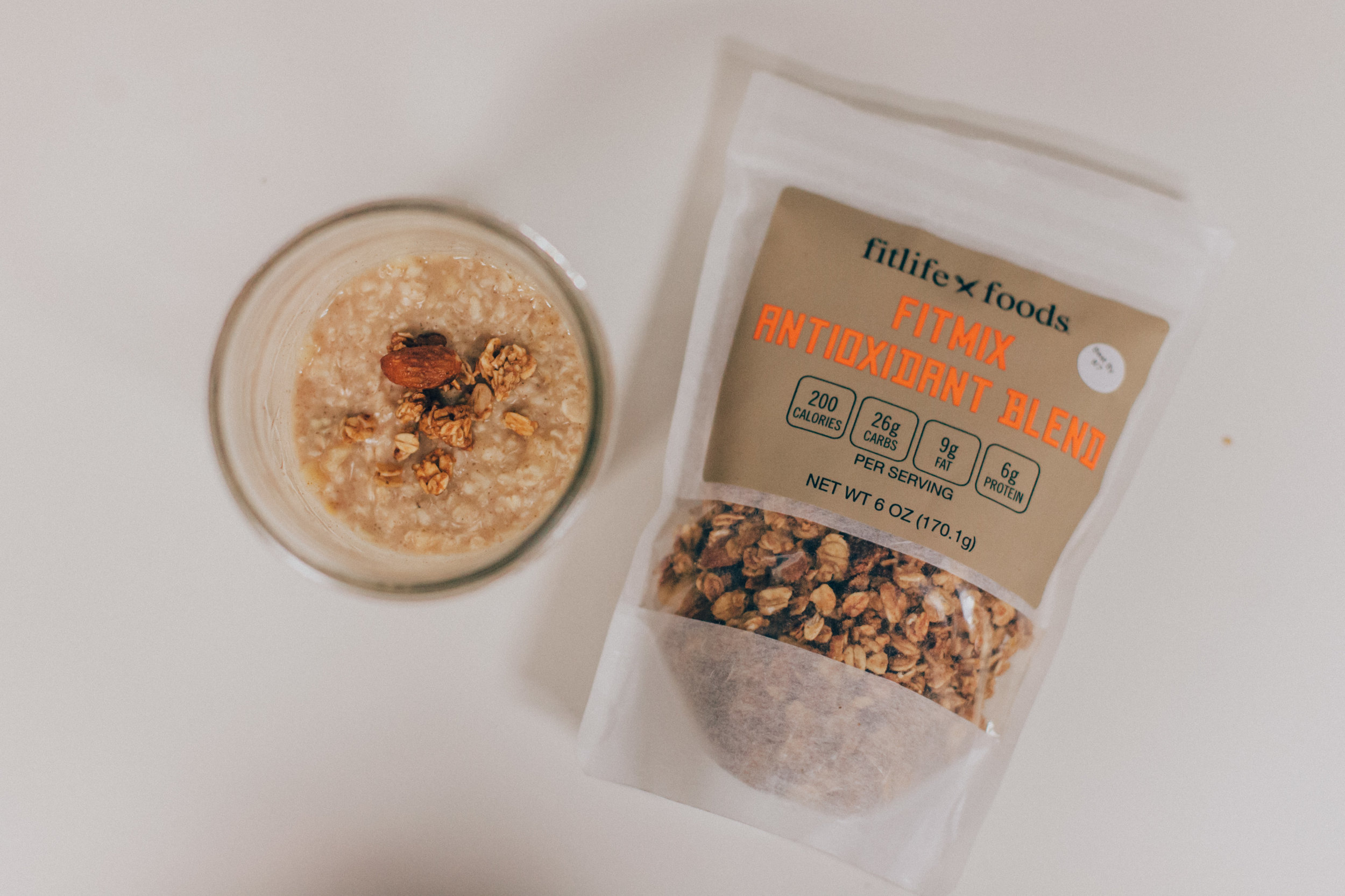 I blend the Fitmix Antioxidant Blend into my daily morning oatmeal to give me the protein fill I need to hold me over until lunchtime.