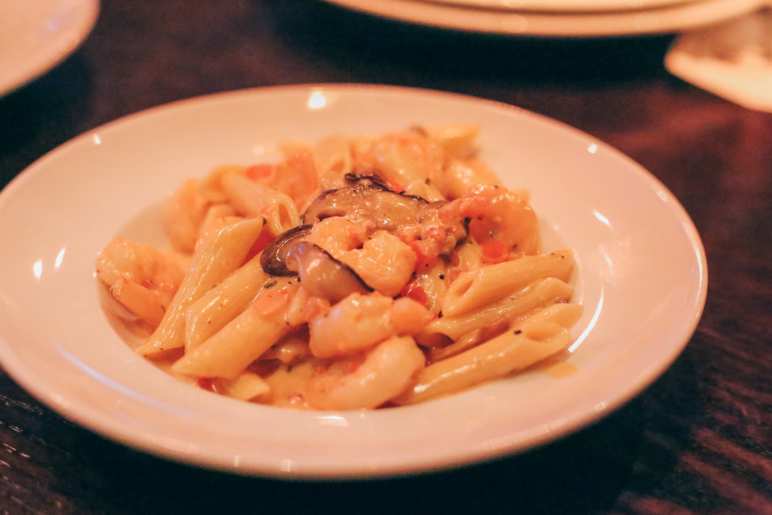 Chef's Daily Feature: Creamy Shrimp Penne Pasta with Button Mushrooms