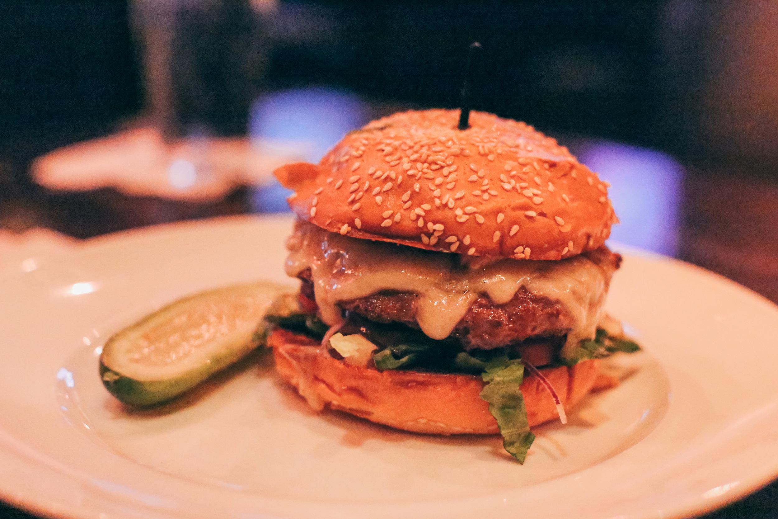 Signature Burger: Swiss Mushroom Burger