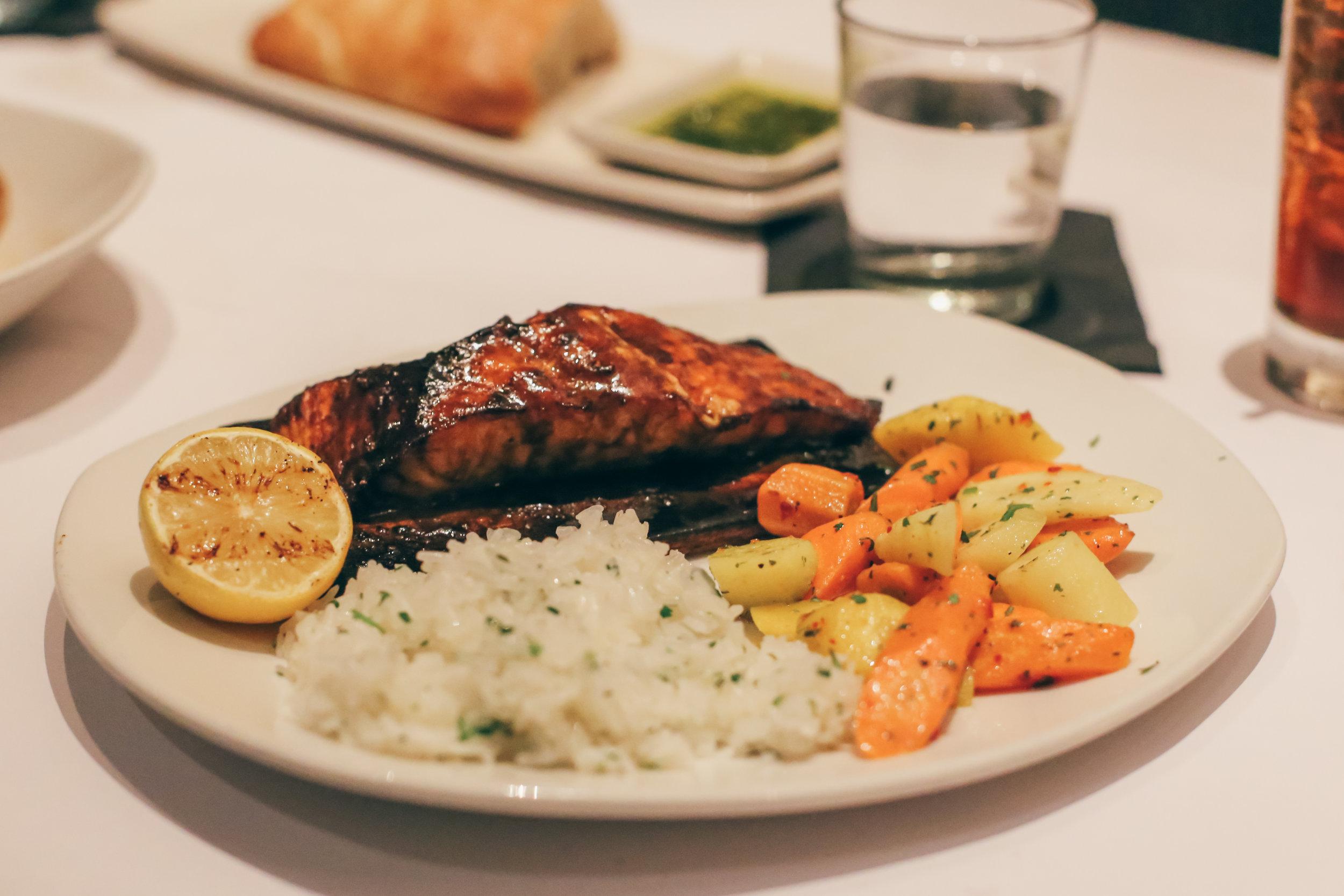 Cedar Plank Bourbon Salmon