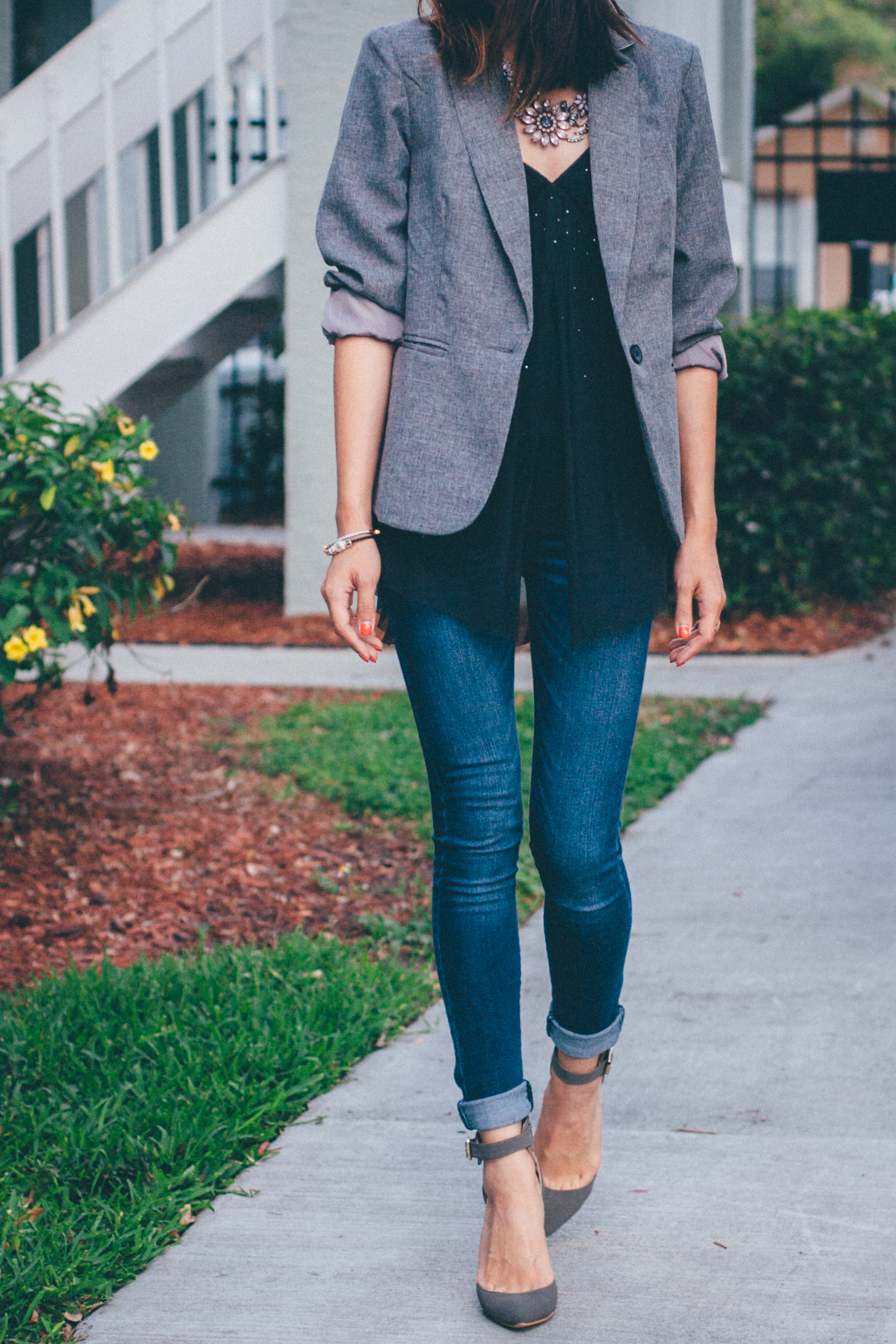 This Jenn Girl - Shein Gray Blazer 1