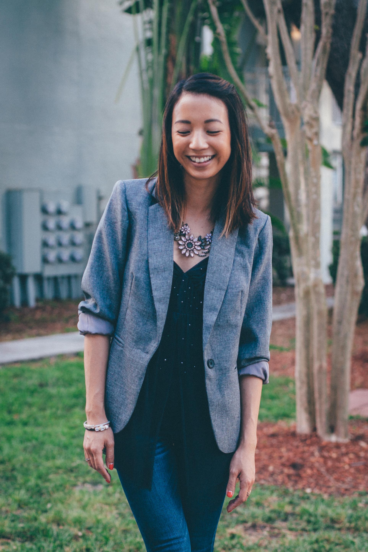 This Jenn Girl - Shein Gray Blazer 4