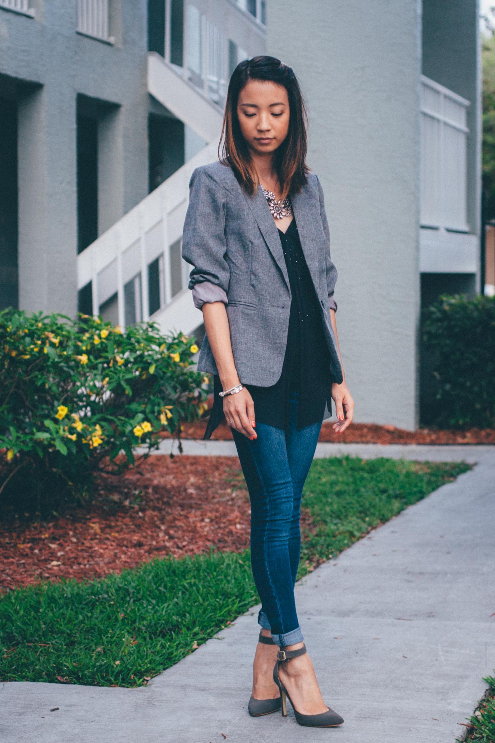This Jenn Girl - Shein Gray Blazer 5