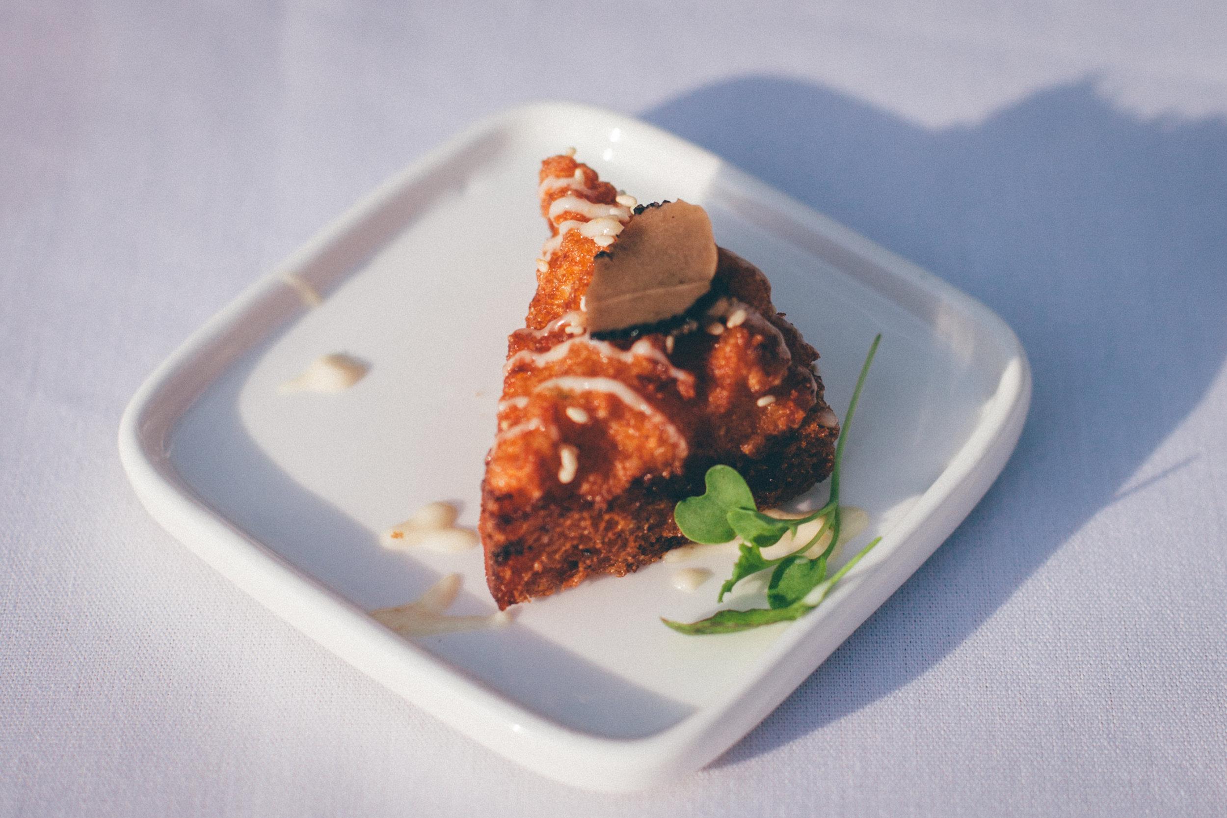 Shrimp Toast with Truffles