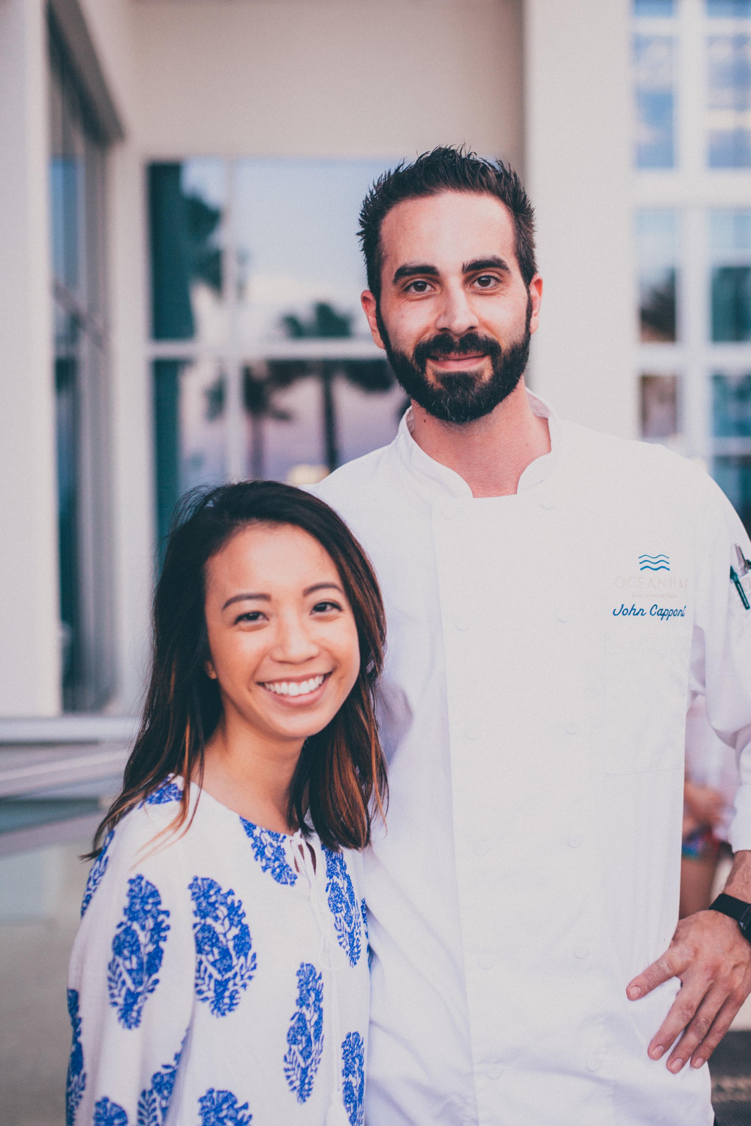 Chef de Cuisine of Ocean Hai,  Chef John Capponi