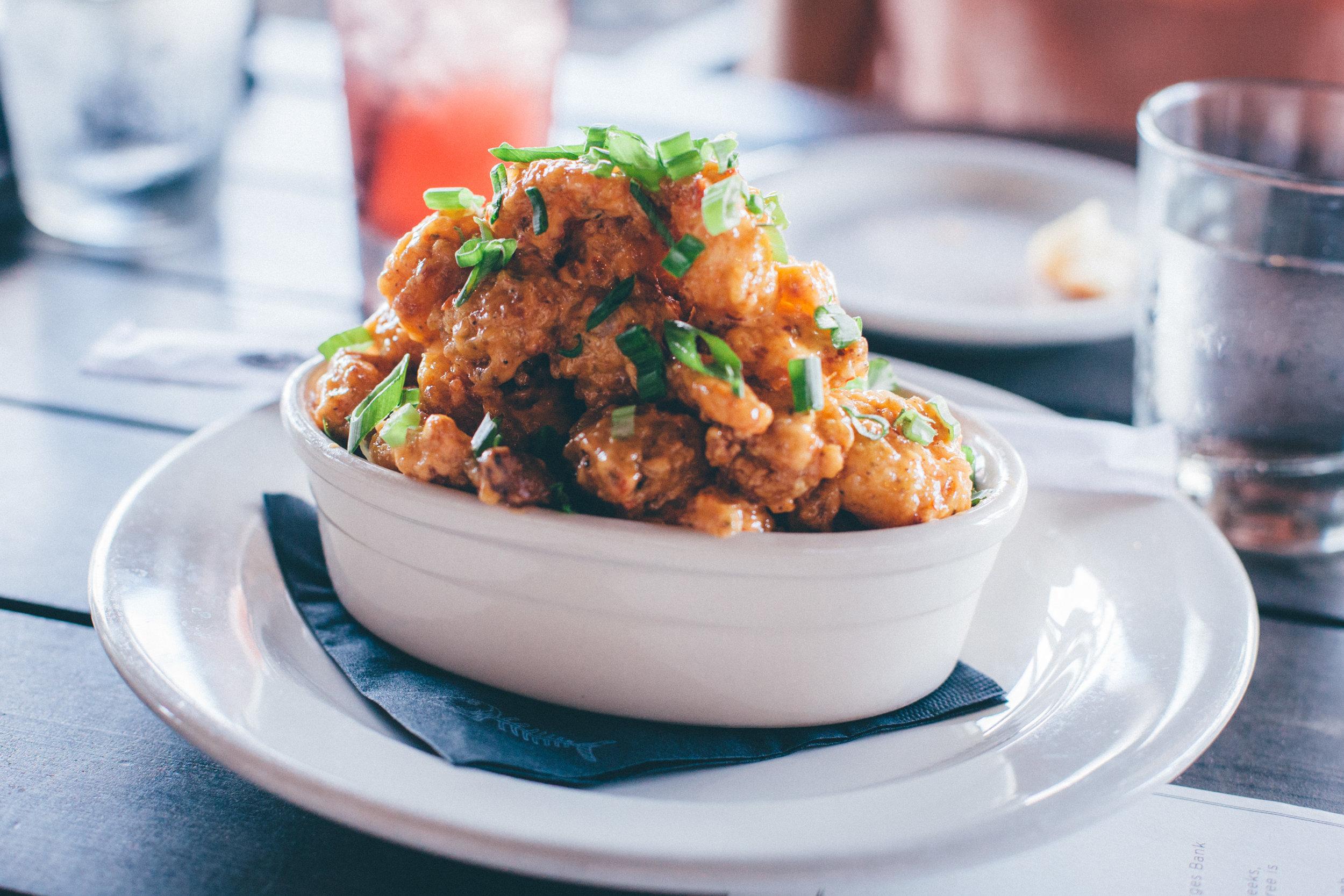 Bang Bang Shrimp: Crispy shrimp, tossed in Bonefish Grill's signature creamy, spicy sauce.