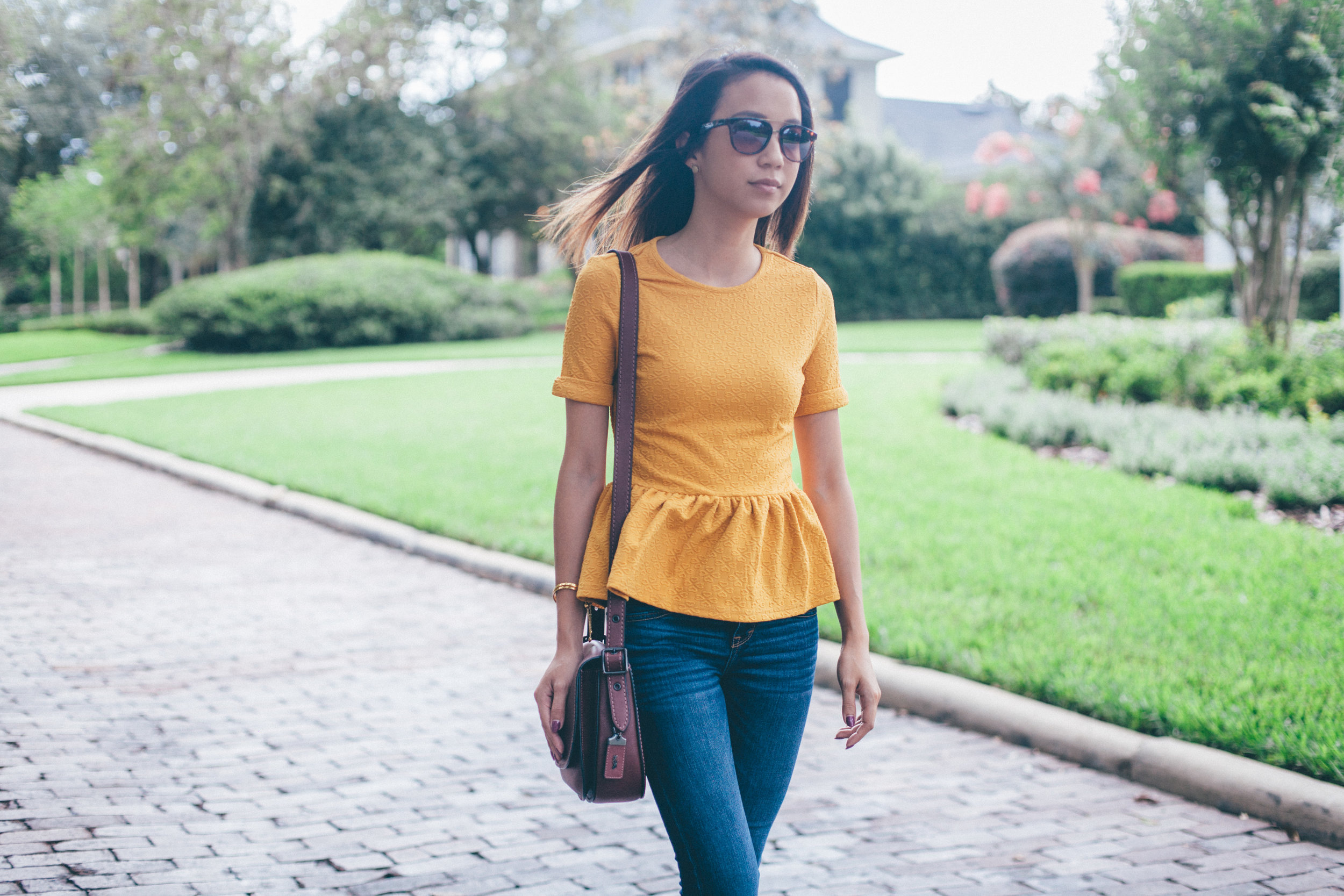 This Jenn Girl - Shein Yellow Peplum 5