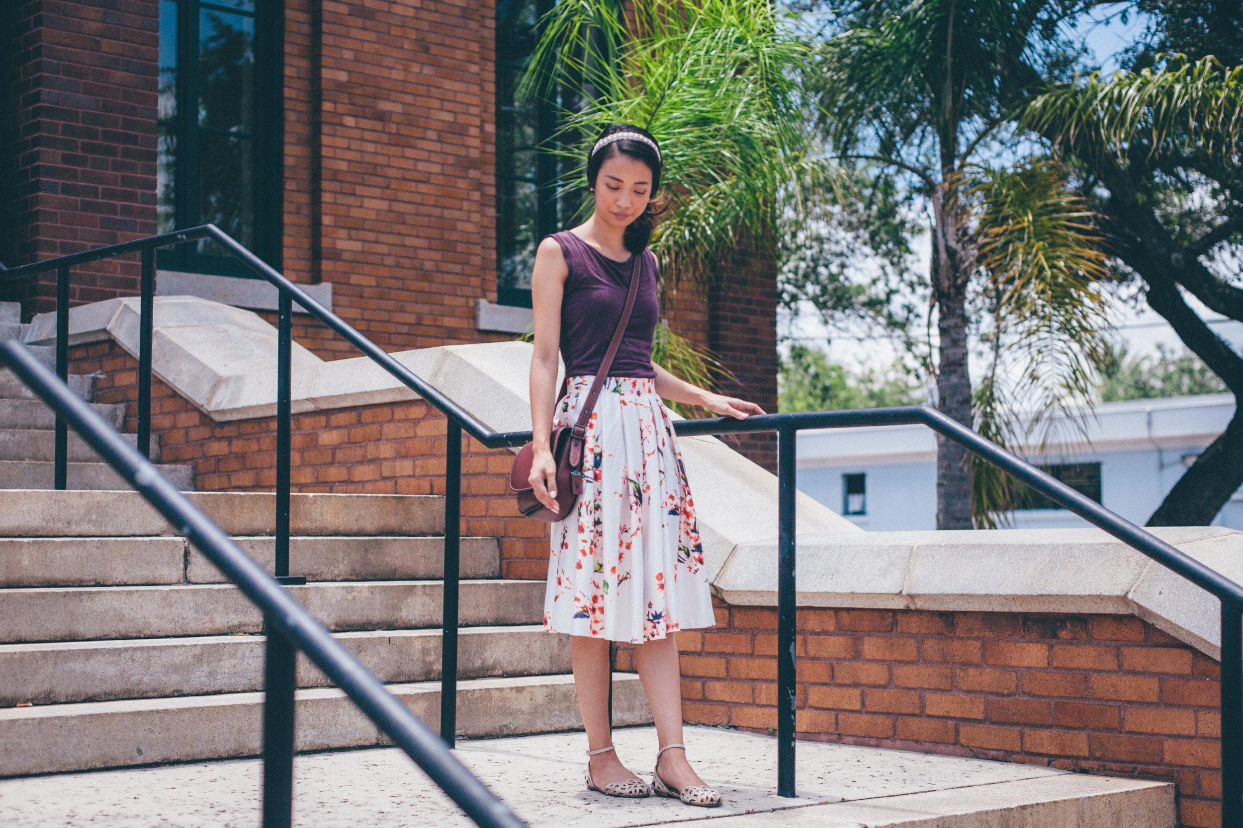 This Jenn Girl - Shein Floral Skirt 1