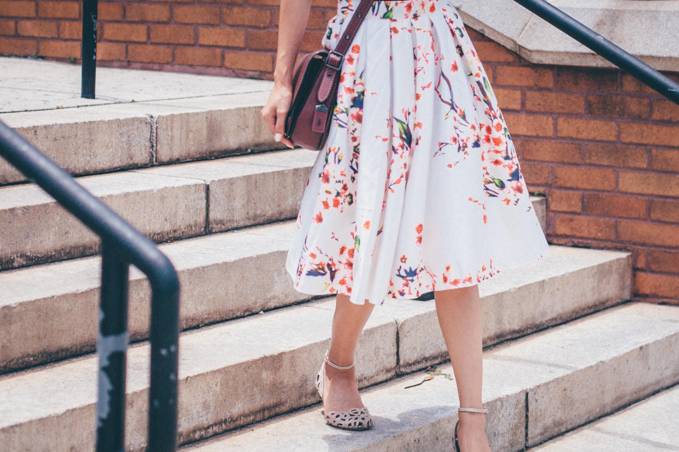 This Jenn Girl - Shein Floral Skirt 3