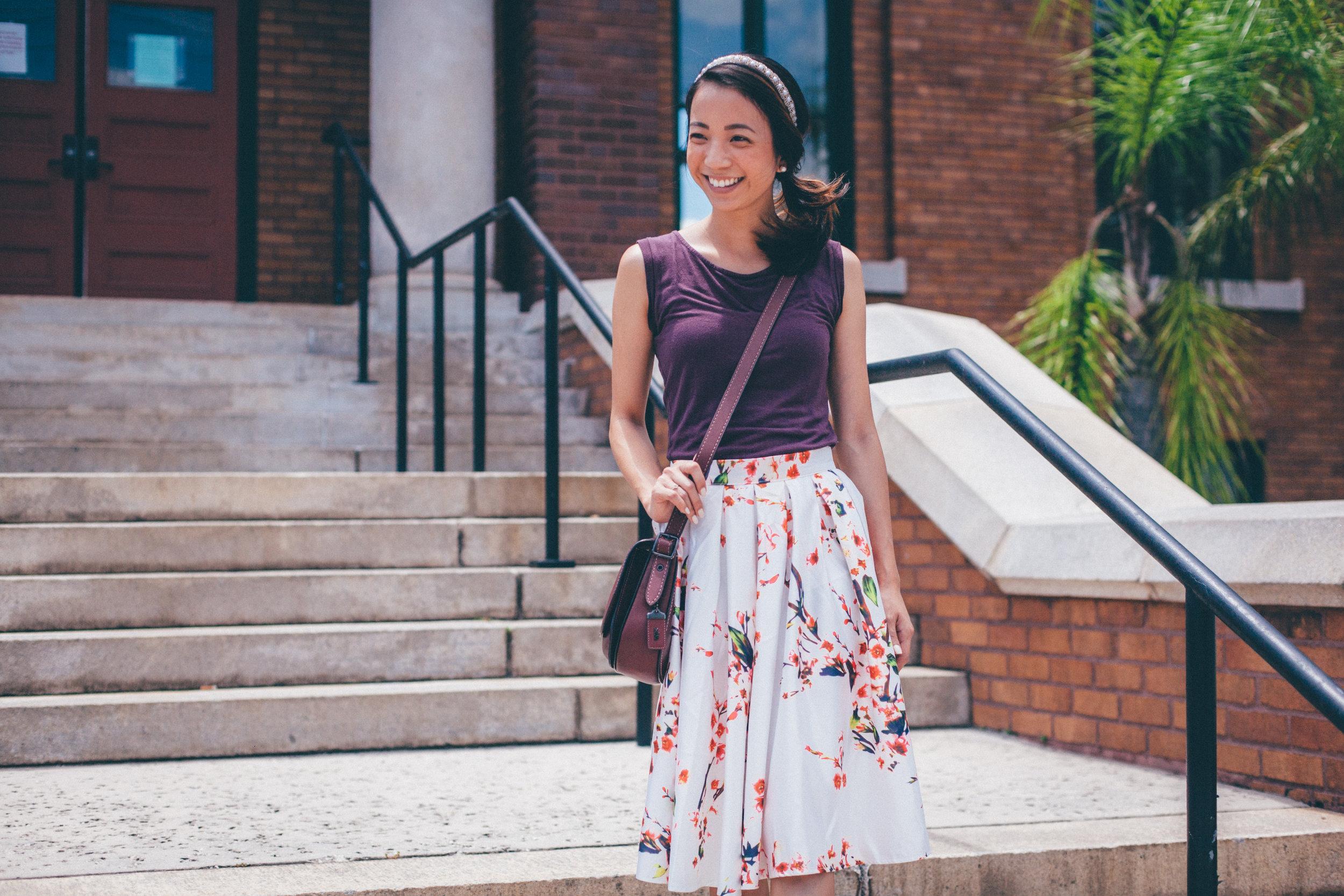 This Jenn Girl - Shein Floral Skirt 4