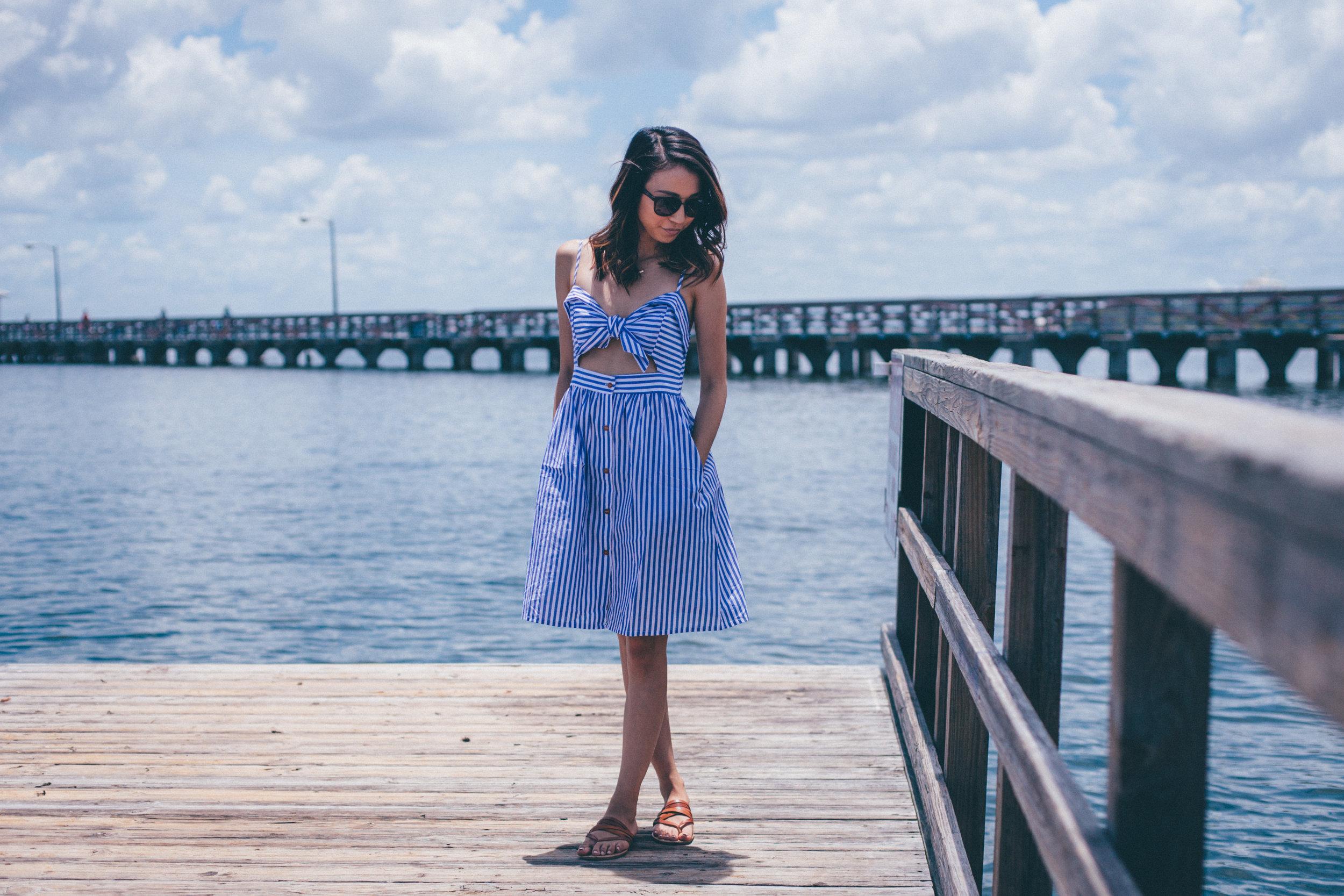 This Jenn Girl - Shein Bow Cutout Dress 4