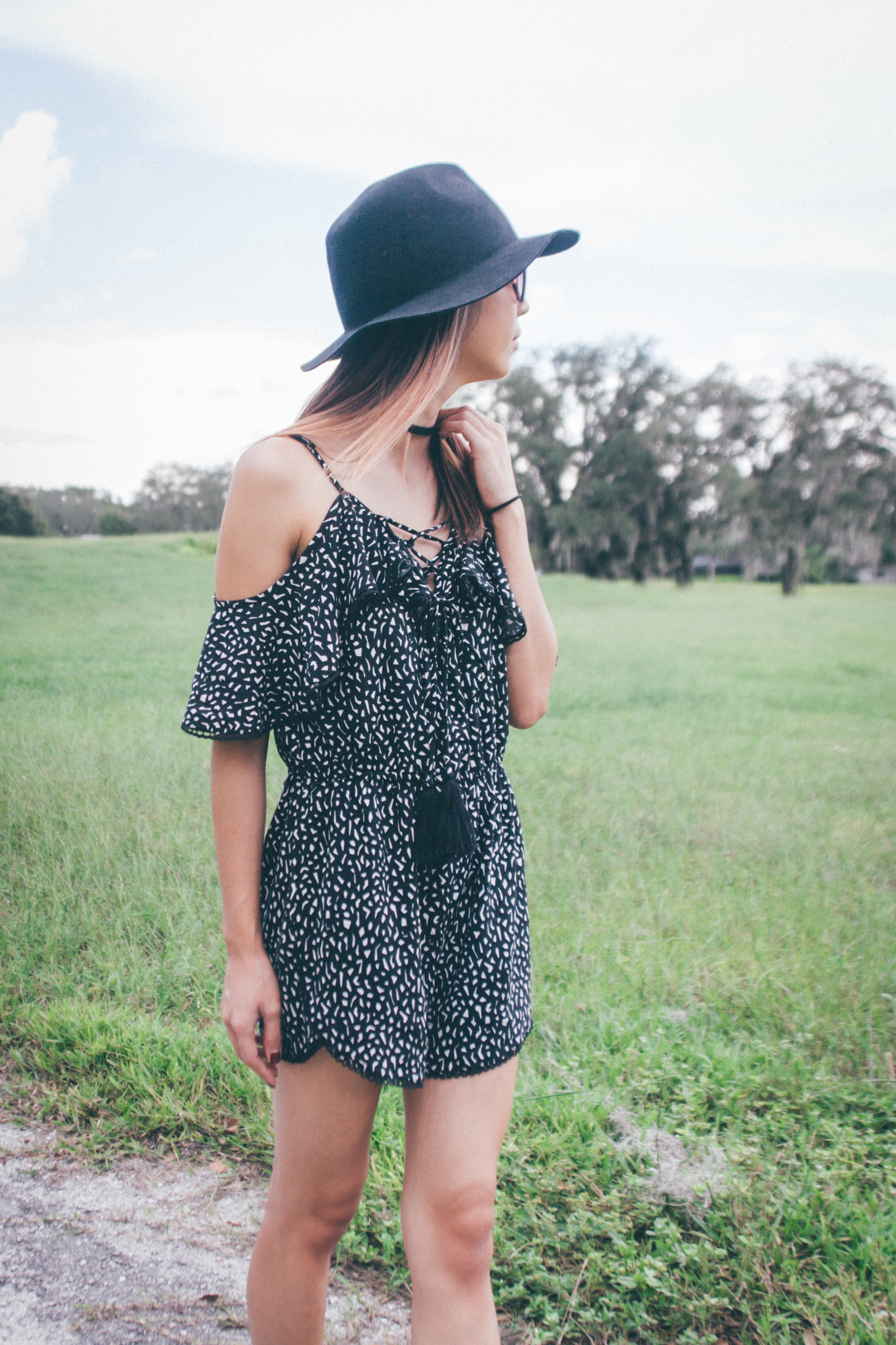 This Jenn Girl - Tampa Blogger - Lace-Up Romper