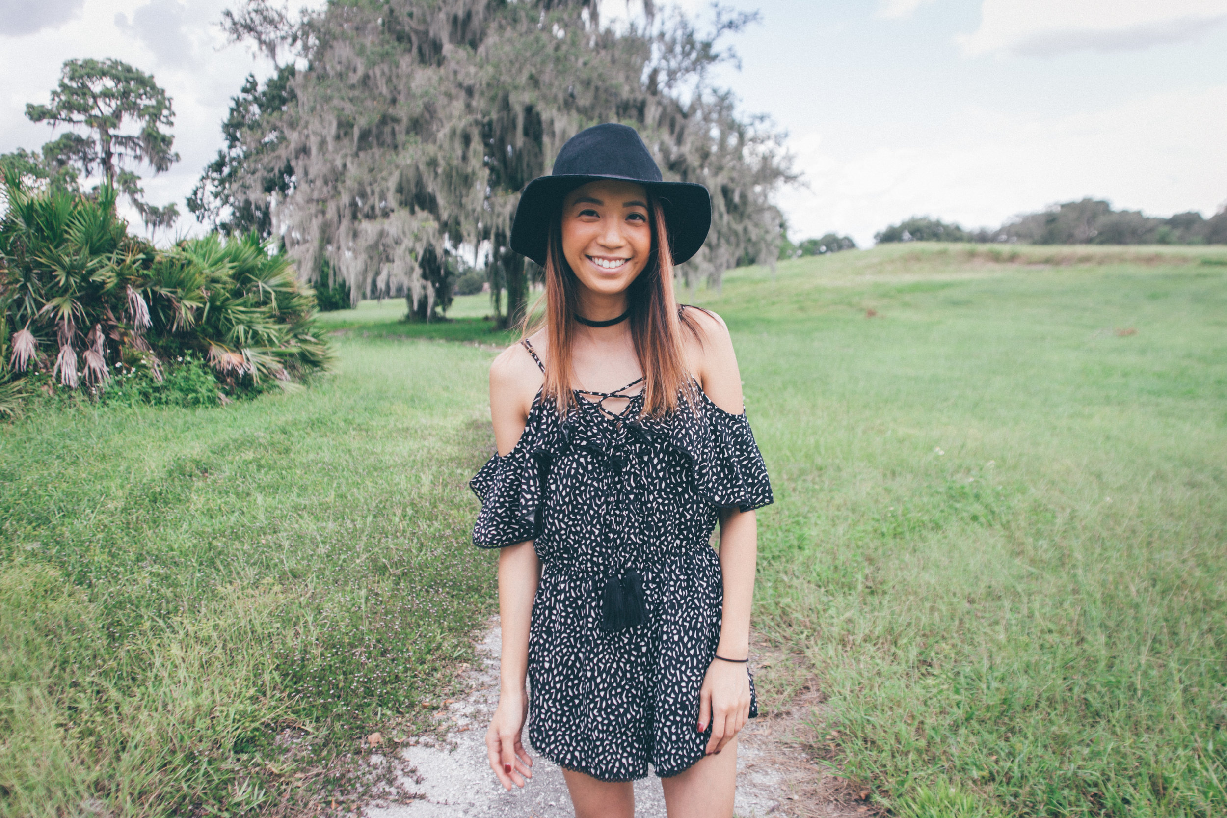 This Jenn Girl - Tampa Blogger - Lace-Up Romper 4