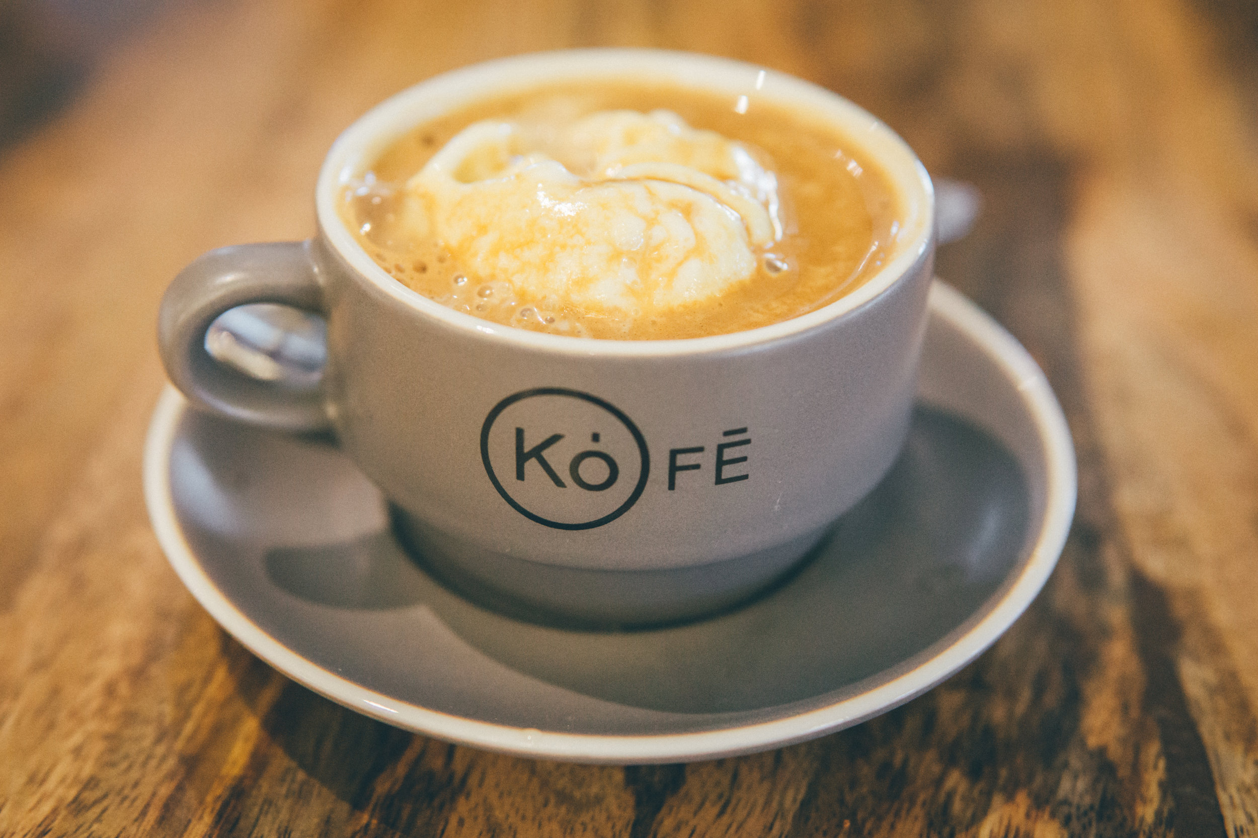 To cleanse the palate: Affogato from Kôfē, featuring Bake'n Babes ice cream