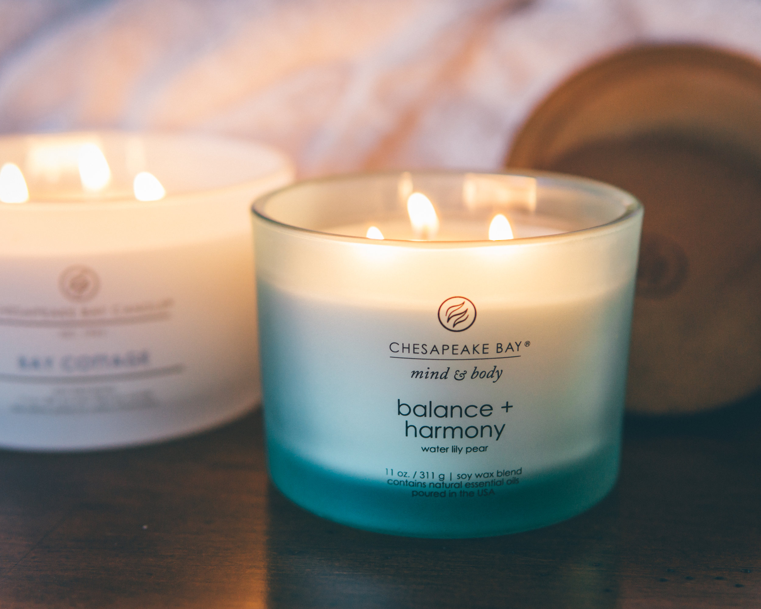 Chesapeake Bay Candle - Balance + Harmony Scented CandleJuicy fruits meet fresh floral notes &creamy coconut - give the gift of tranquility.