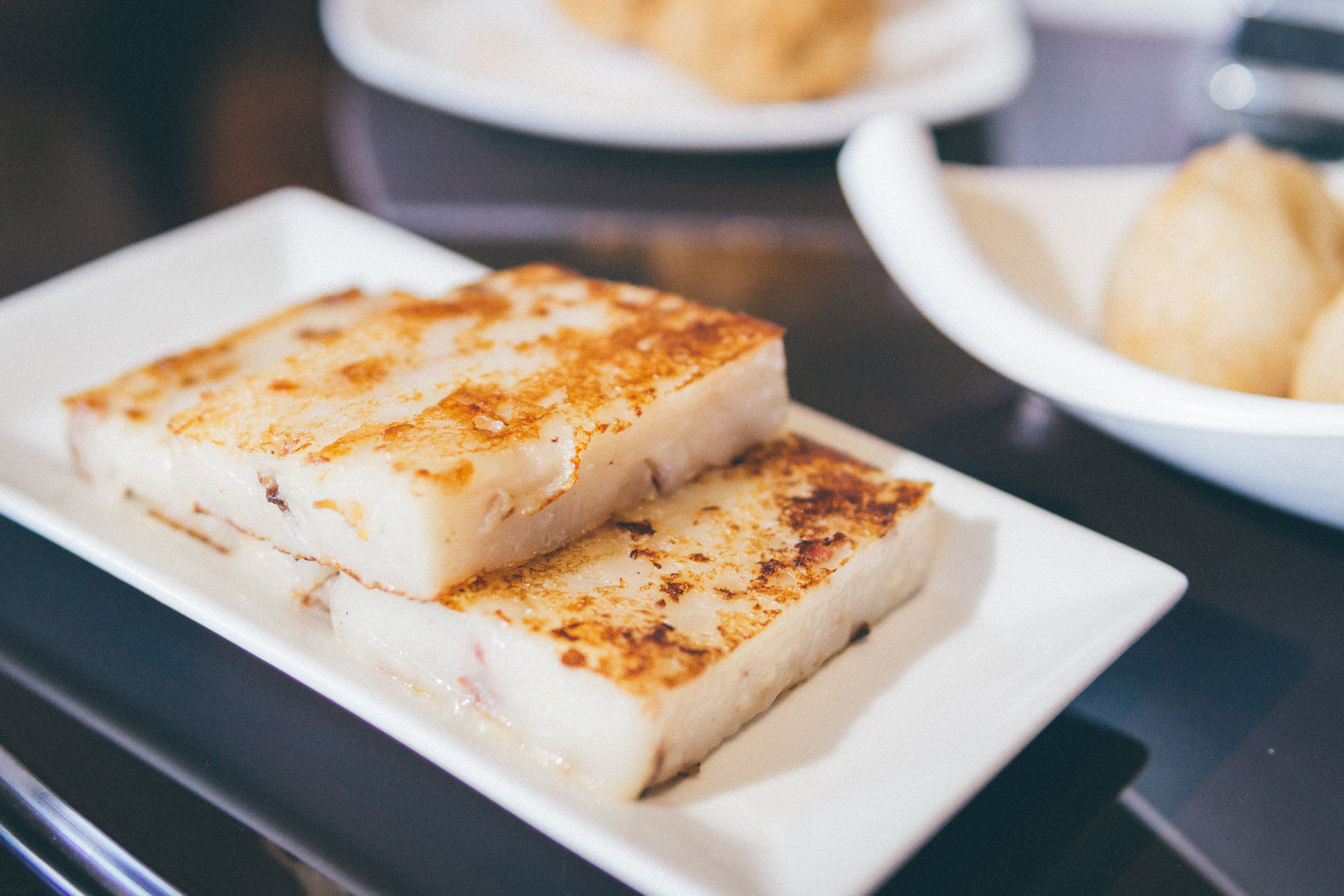 Pan-Fried Turnip Cake (Lo Bak Go)