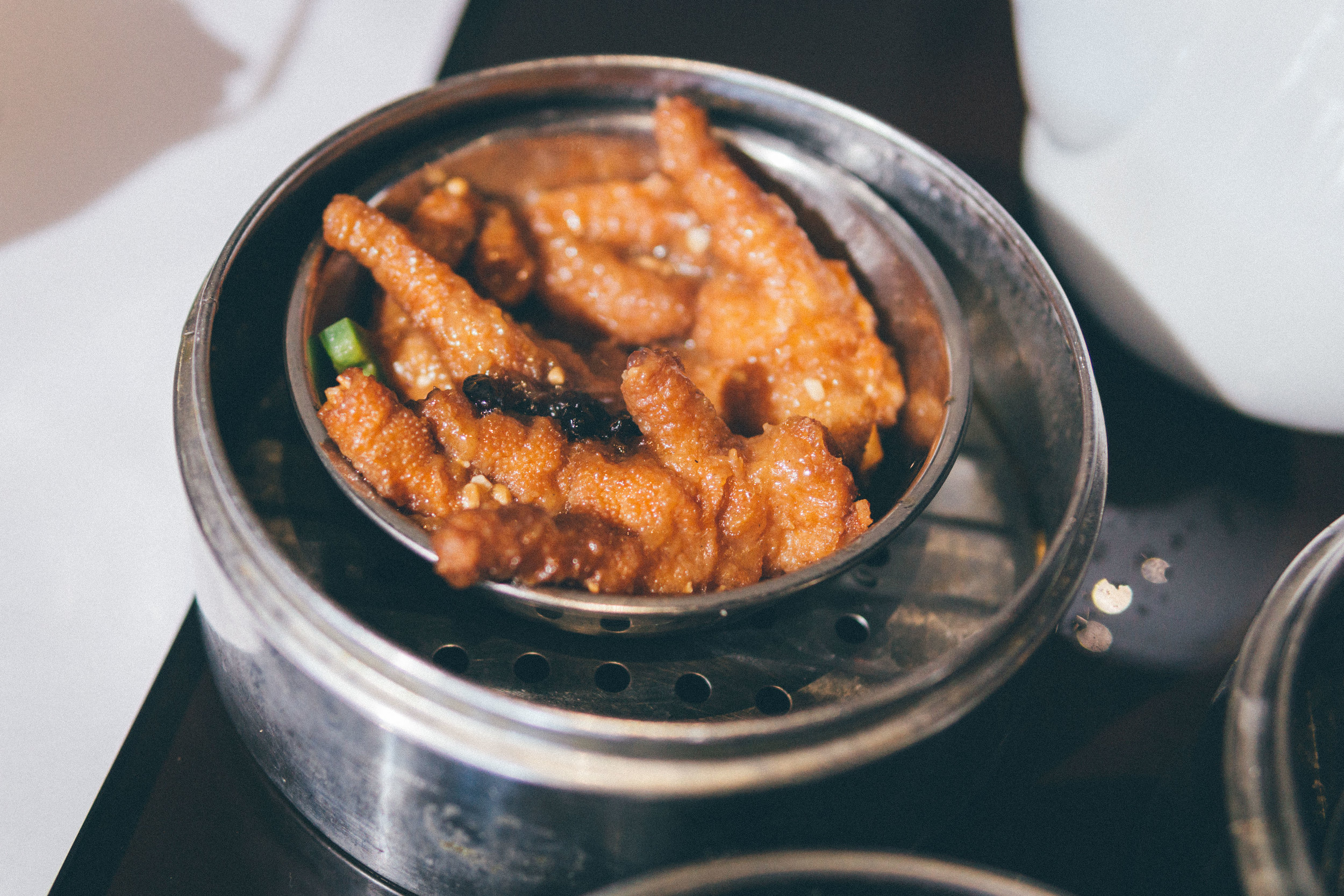 Steamed Chicken Feet in Black Bean Sauce (Feng Zhao)