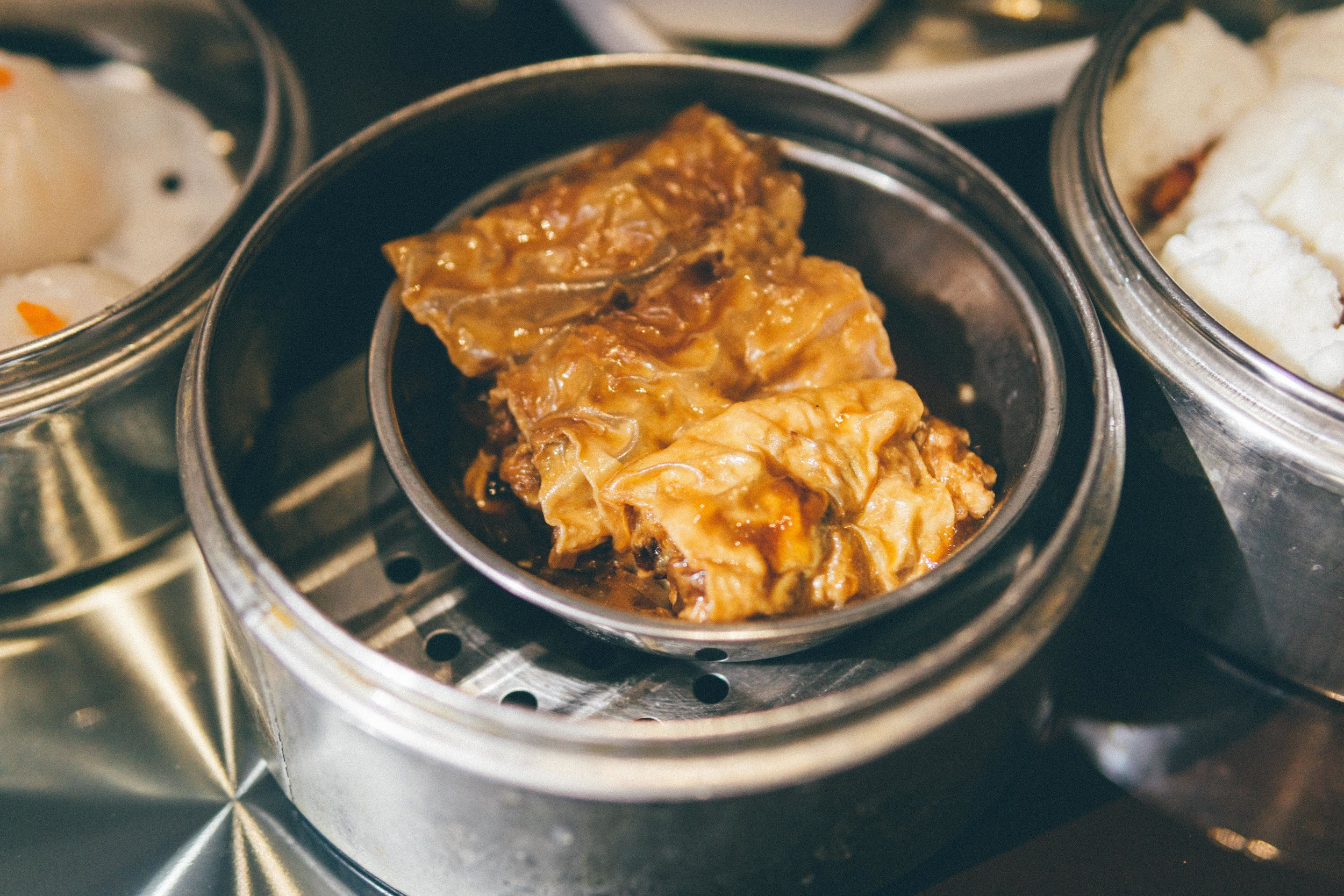 Steamed Bean Curd Skin Rolls (Sin Zuk Gyun)