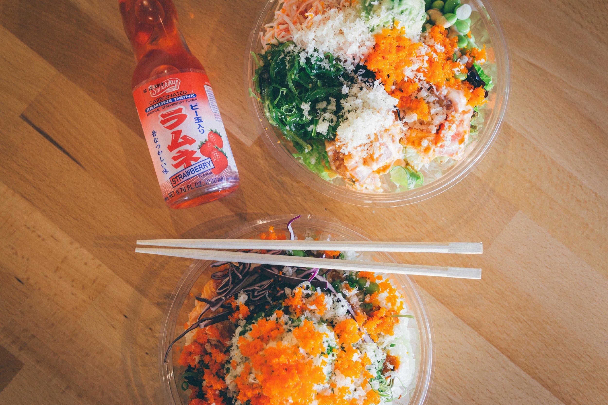 Poke Rice Bowl vs. Poke Salad