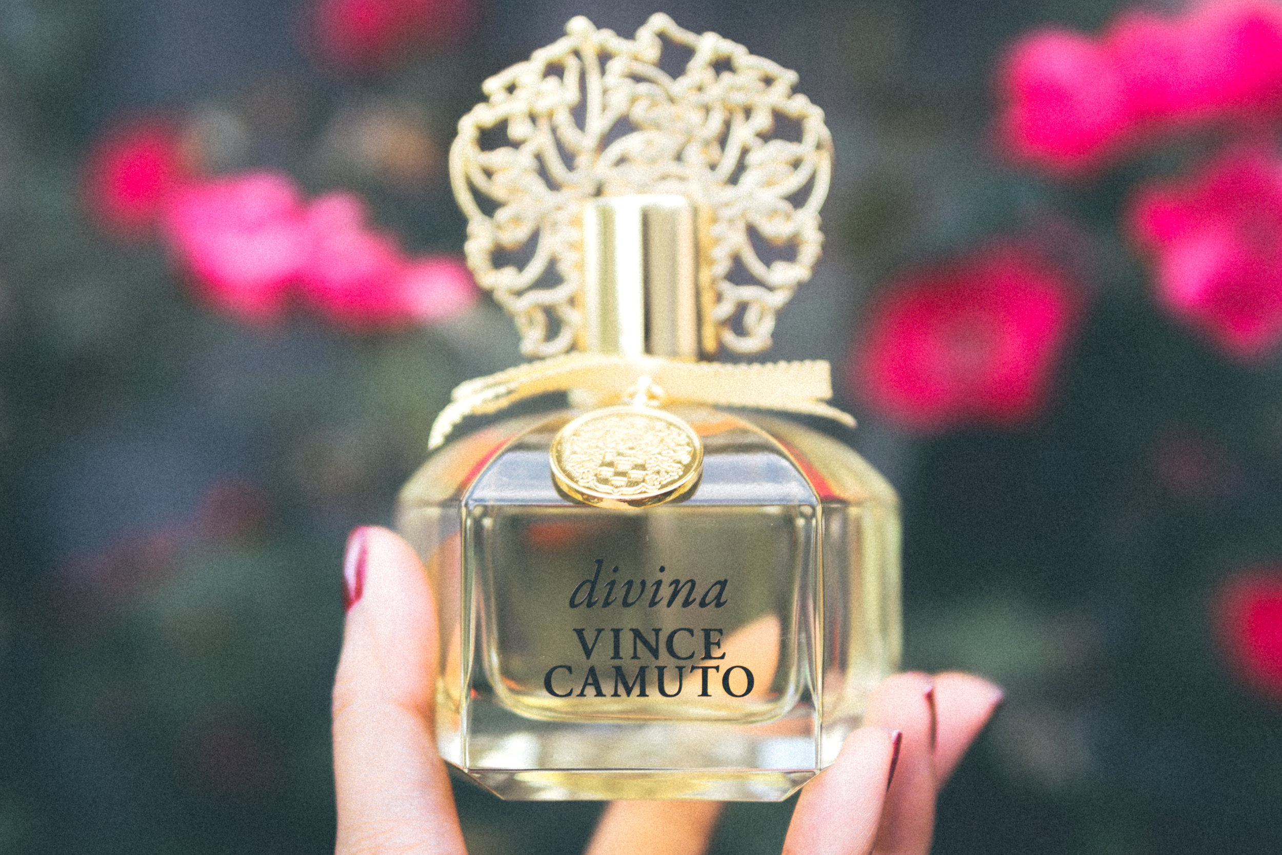 Divina Vince Camuto Eau de Parfum - Divina has easily become my special occasion fragrance. Sunkissed notes of pamplemousse, mimosa blossom, &warm musk paired with sunflower,heliotrope flower &creamy sandalwood.