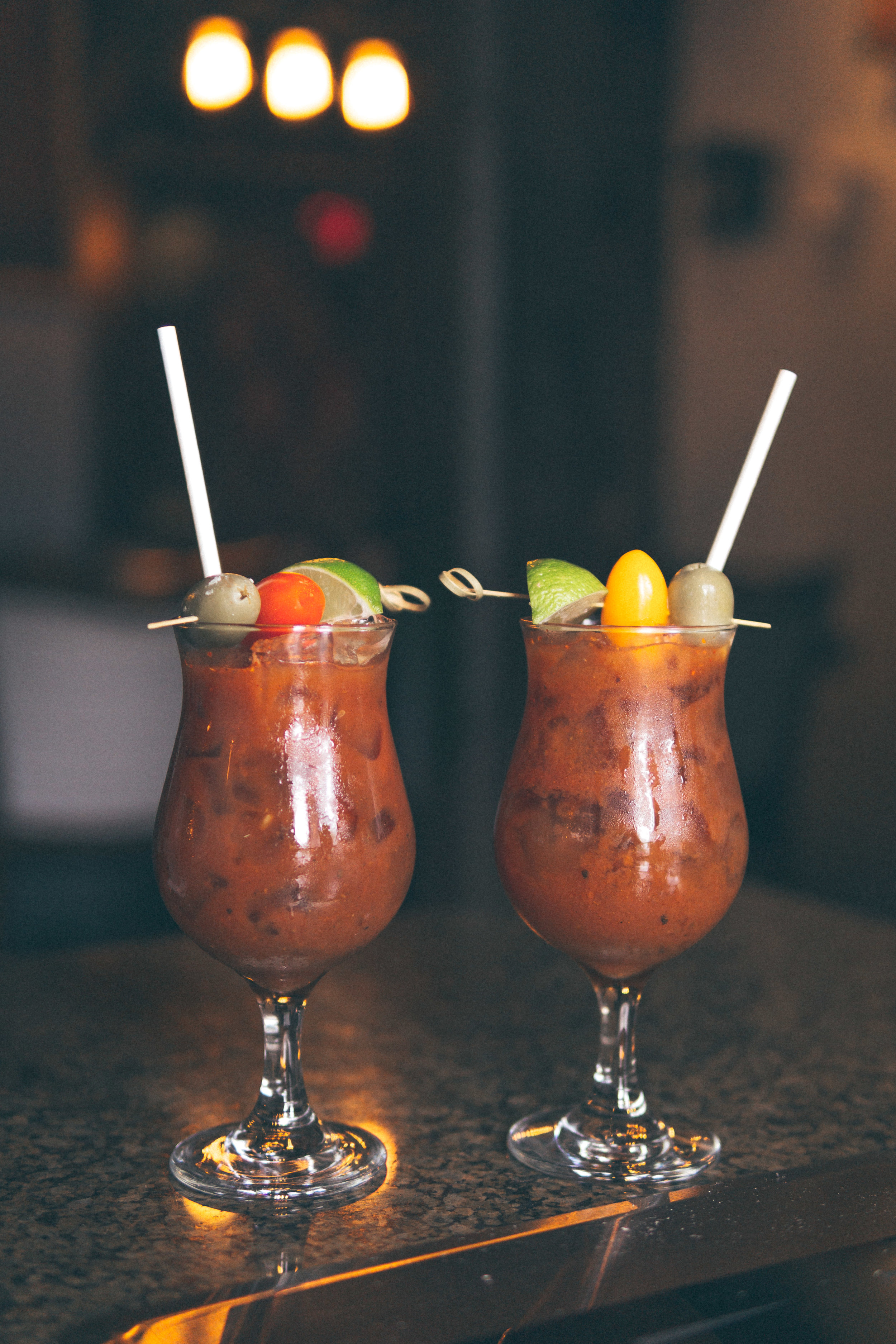 San Marzano Bloody Marys: Tito's Handmade Vodka, Lava Bloody Mary Mix, Worcestershire Sauce
