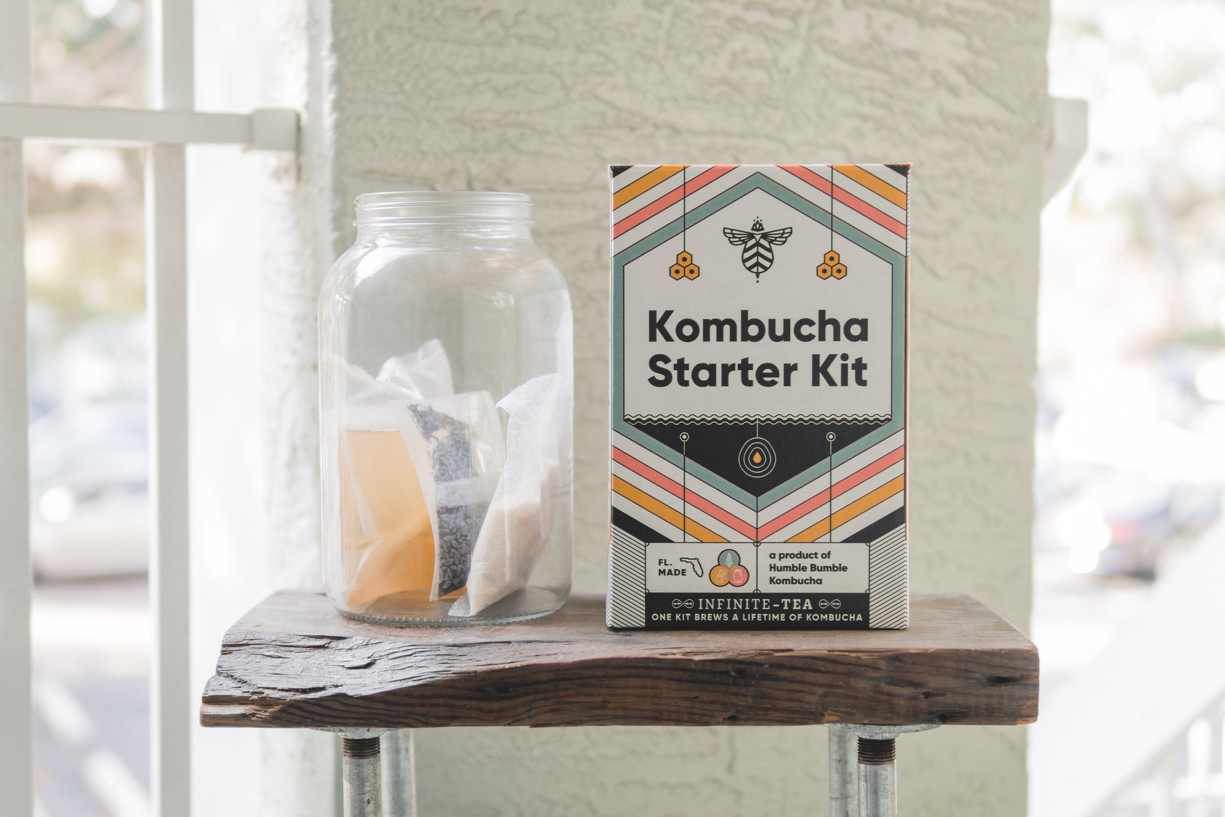 Craft A Brew Kombucha Kit - In need of a healthy start this year and a little financial freedom? Skip purchasing bottles of kombucha at the store and brew your own with this all-encompassing kit that's Florida made! The kit contains all you need to create one gallon of sweet and tangy kombucha tea.
