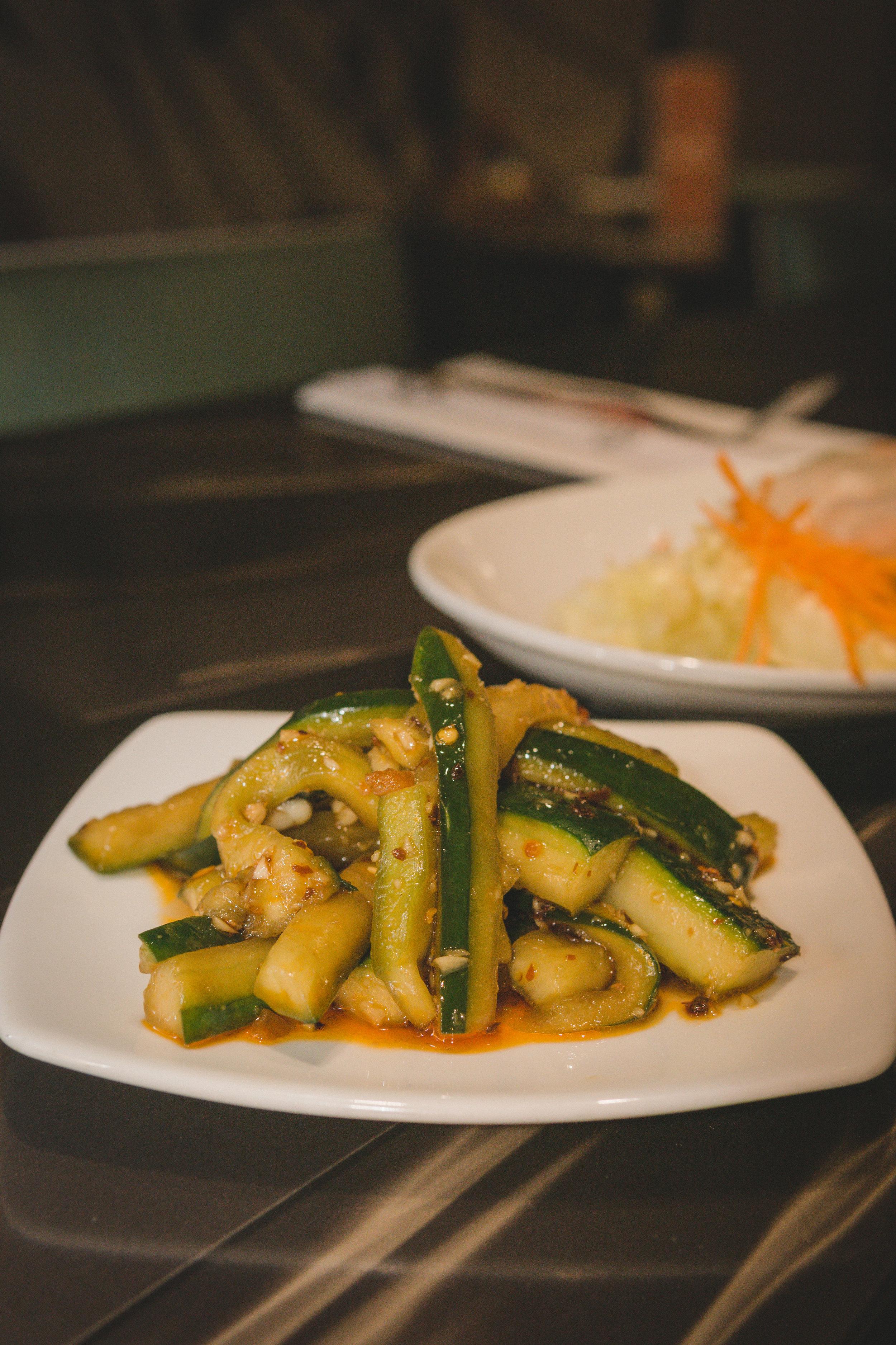 Spicy Garlic Cucumbers