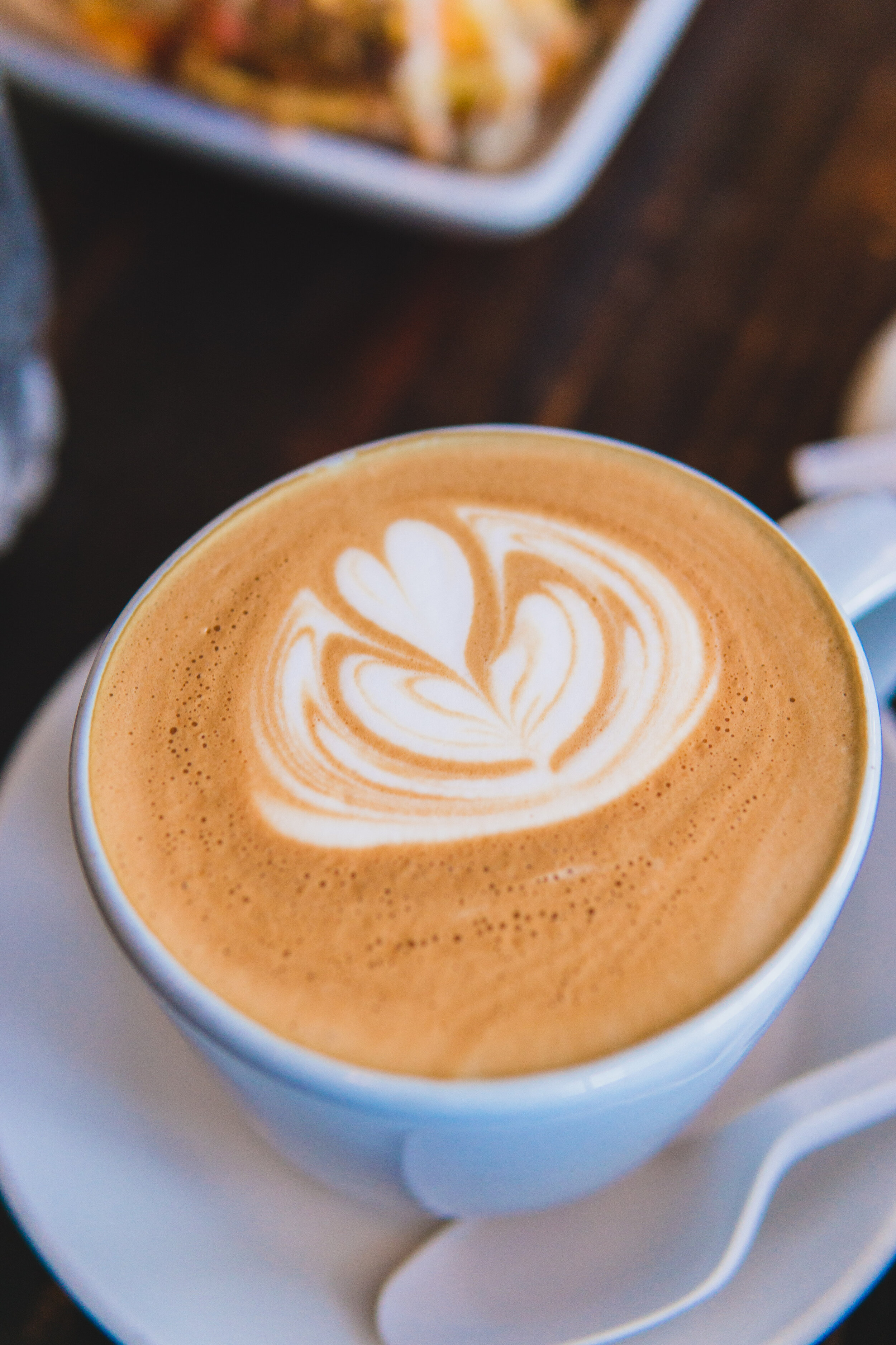 Latte: Made with Ventola Colombian Coffee