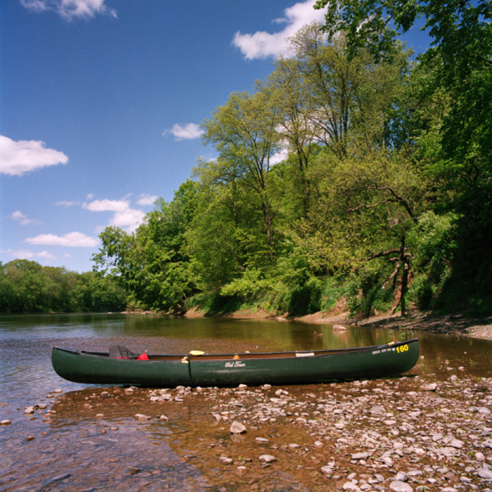 Canoe in River, Delaware Water Gap National Recreation Area, NJ