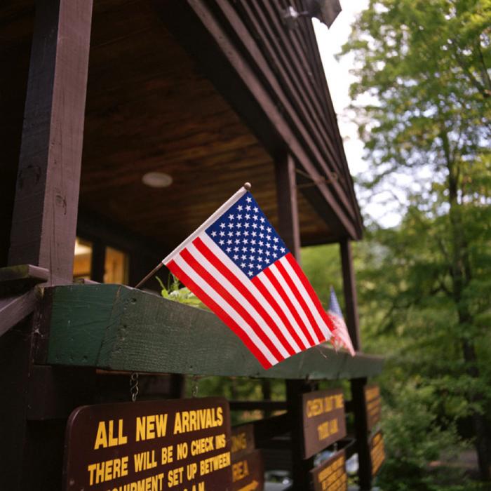 Flag, Woodland Valley State Campground, Catskill Park, NY