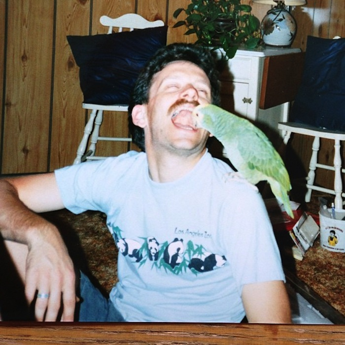 Despite Oliver's narcissism and hideous halitosis, Heather still enjoyed his company and shoulder. Oliver's public displays of affection toward Heather stood in stark contrast to his continued failure to ever connect with any human. Their connection affected Heather's neurolinguistic pathways in a deep and permanent manner. Heather's squawks changed key; she produced sound never before heard in nature. Oliver opened The Cross-Species Communication Institute (CSCI) in Carson City, NV. Heather is in the CSCI logo.