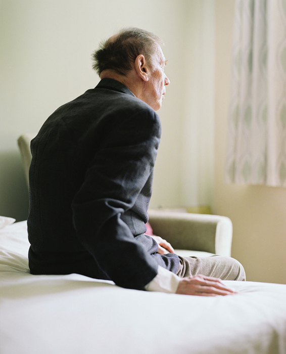 David in his second care home, 2012