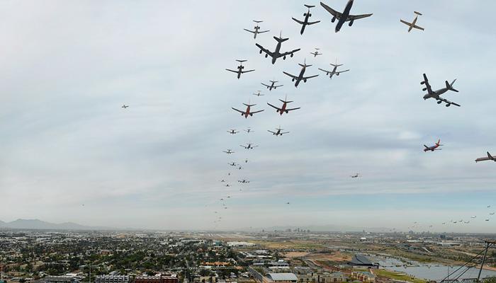"""Seventy Flights in Ninety Minutes, Phoenix"" by D. Bryon Darby (http://www.bryondarby.com/)"