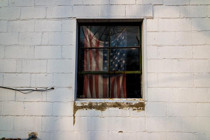 """Flag Under Glass"" by Harvey Hanig"
