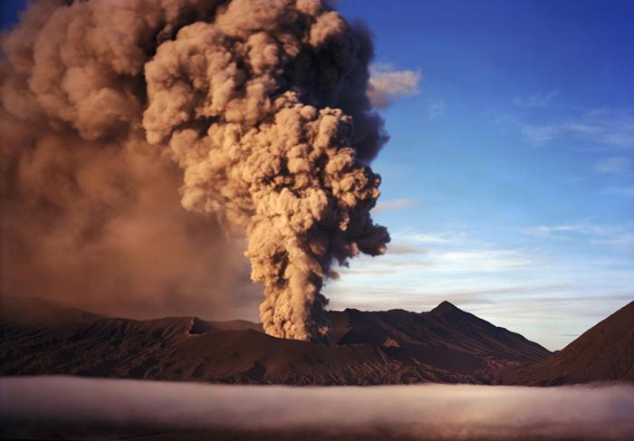 Mt. Bromo Erupting Spring Equinox 2011