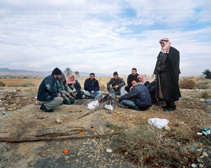 Bedouin, Allenby Bridge, Jordanian border 2006