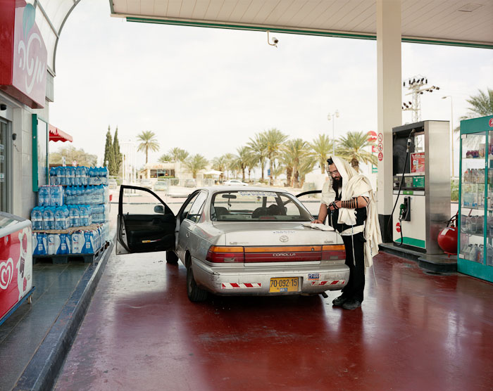 Breslav Hasid Praying, Petrol Station, HaBiqah, 2011