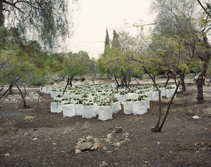 Building materials, Moslem Cemetery, Jerusalem, 2010