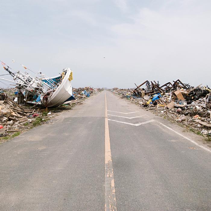 Tsunami-hit area - 6km from Fukushima Daiichi Nuclear Power Plant