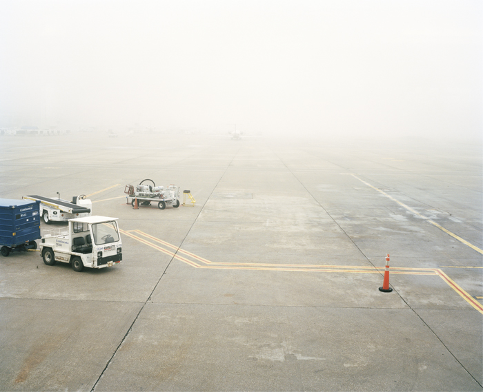 Foggy Runway, Will Rogers World Airport, Oklahoma City, Oklahoma