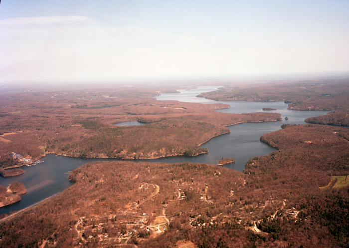 Aerial, Lake Wallenpaupak and Lacawac, Pennsylvania