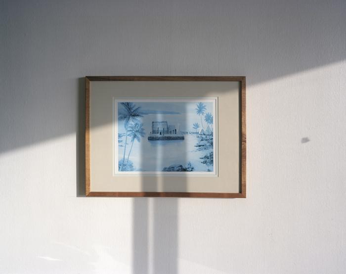 Ahu'ena Heiau Print, King Kamehameha Hotel, 2009