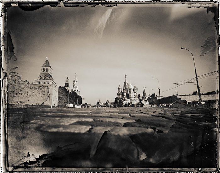 Road to Red Square, Moscow, Russia