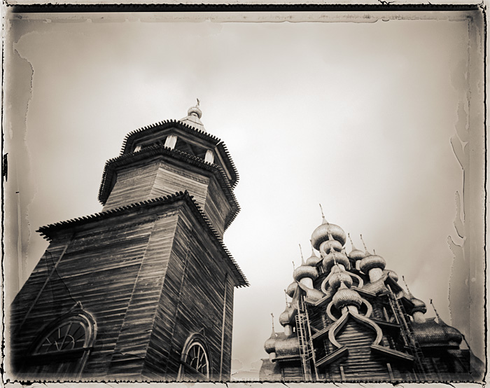 Tower and Transfiguration Cathedral, Kizhi Island, Russia