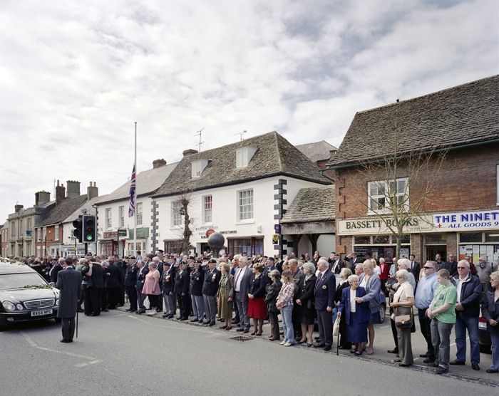 Repatriation of dead soldier, Wooton Bassett, April 2010
