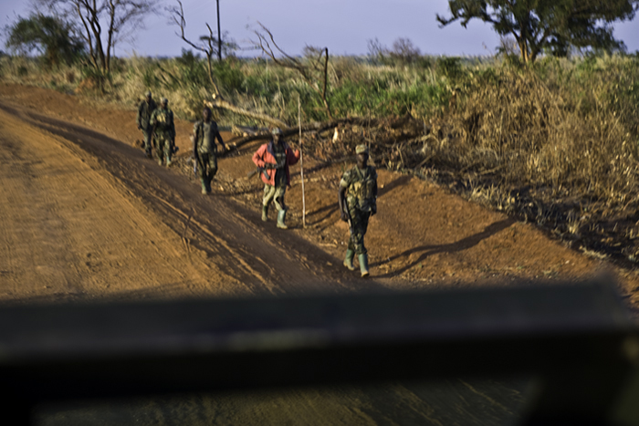 UPDF Returning from Patrol at Days End, Pader District, 2005
