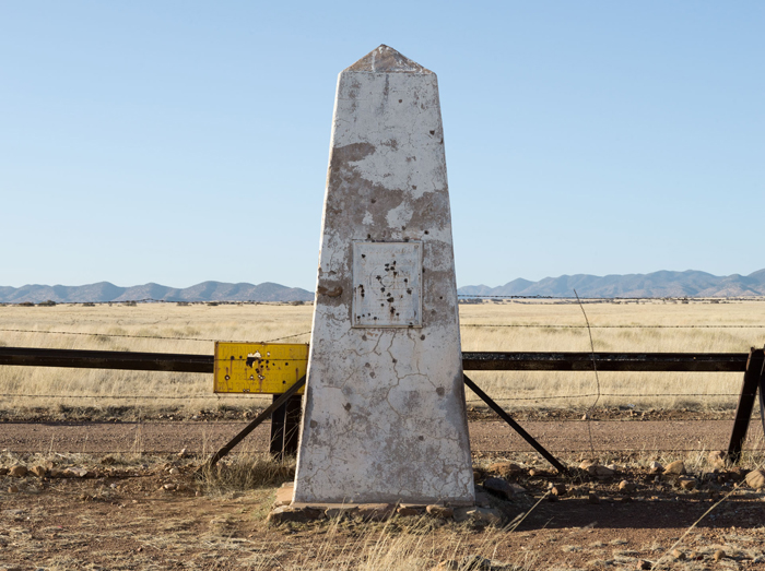 Border Monument No.106 - N 31° 19.978' W 110° 27.515'
