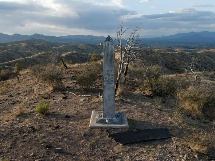 Border Monument No.126 - N 31° 19.928' W 111° 04.217'