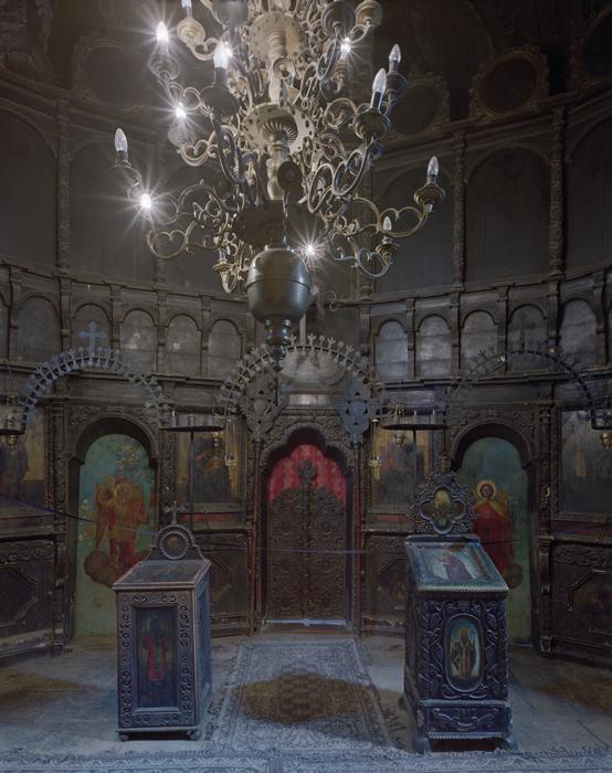 Interior, Arbore Monastery, Bucovina, Romania
