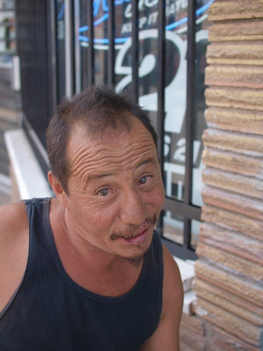 Jerome Garcia chillin' on Main Street